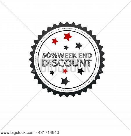 Discount Sale Scribble Grunge Stamp On White Background. Grunge Stamp And Text Discount Sale Outline