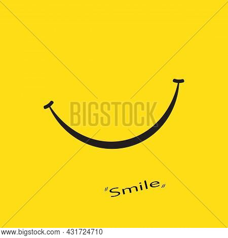 Happy Smiling Abstract Background Icon Vector Illustration