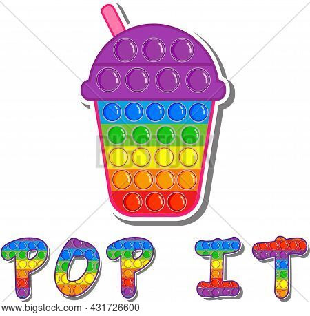 Pop It. Vector Illustration Isolated On A White Background.