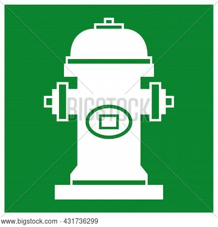 Fire Hydrant Symbol Sign, Vector Illustration, Isolate On White Background Label. Eps10