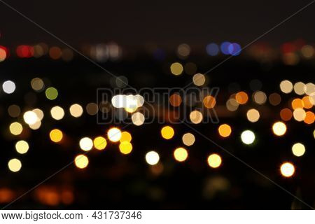 Lights Of The Night City. Night City Kiev, Ukraine.