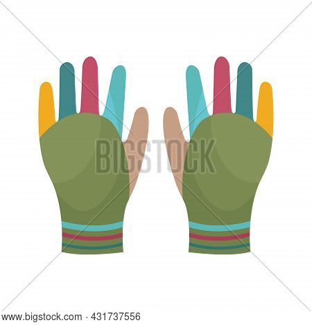 Bright Warm Multicolored Gloves. Gloves To Protect Your Hands In Cold Weather. Gloves For Gardening.