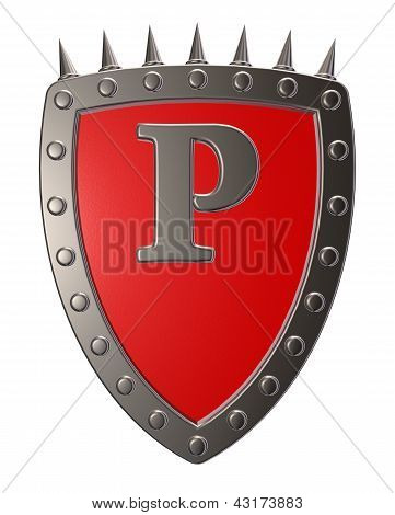Shield With Letter P