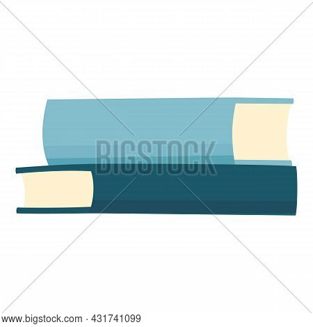 School Book Stack Icon Cartoon Vector. Library Pile. Dictionary Textbook