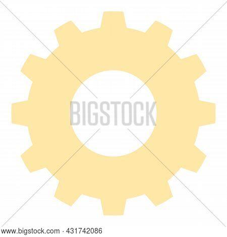 Gear Wheel Icon Cartoon Vector. Engine Cogwheel. Machine Work