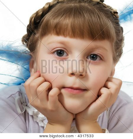 Girl With Blue Wings