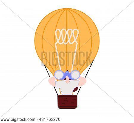Business Creativity, Vector Concept. Symbol Of Brainstorming, Creative Ideas, Thinking. Minimal Eps1