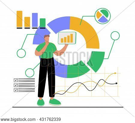 Investment Asset Allocation And Rebalance Concept, Businessman Investor Or Financial Planner Standin