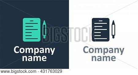 Logotype Scenario Icon Isolated On White Background. Script Reading Concept For Art Project, Films,