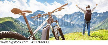E Bike In Austria. Rental Ebike Cycling In Nature
