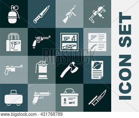 Set Bayonet On Rifle, Firearms License Certificate, Weapon Catalog, Tommy Gun, Revolver, Buying Pist