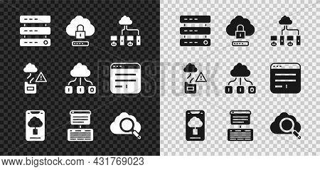 Set Server, Data, Web Hosting, Cloud Computing Lock, Computer Network, Technology Data Transfer, Sea