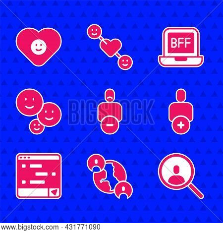 Set Loss Of Friend, Bff Or Best Friends Forever, Magnifying Glass Search, Add To, Chat Messages On L