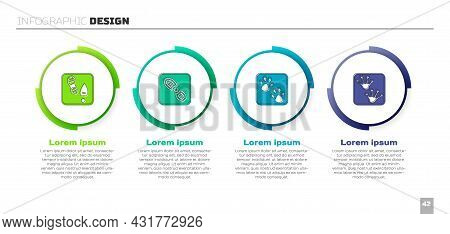 Set Human Footprints Shoes, , Paw And Frog Paw. Business Infographic Template. Vector
