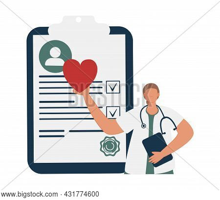 Medical Checkup As Annual Doctor Health Test Appointment Tiny Person Concept. Preventive Examination