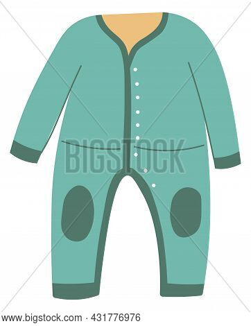 Jumpsuit With Buttons For Children, Kids Fashion
