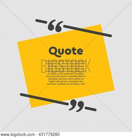 Quote Speech Bubble, Text In Brackets, Frame