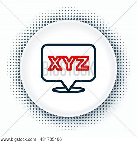 Line Xyz Coordinate System Icon Isolated On White Background. Xyz Axis For Graph Statistics Display.