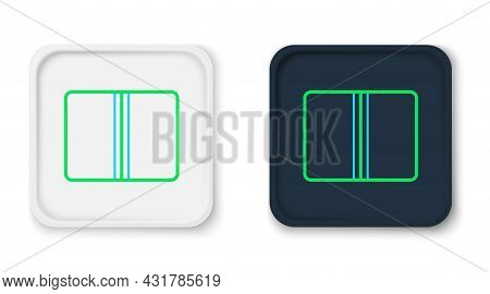 Line Textile Fabric Roll Icon Isolated On White Background. Roll, Mat, Rug, Cloth, Carpet Or Paper R