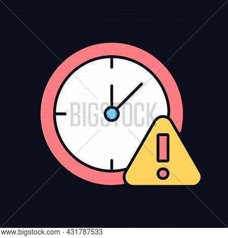 Do Not Use For Long Time Rgb Color Manual Label Icon For Dark Theme. Isolated Vector Illustration On