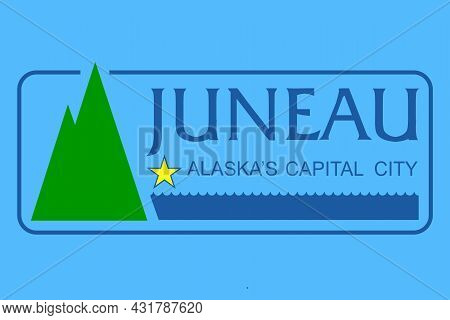 The Traditional Flag Of The Alaska City Of Juneau The Capital City
