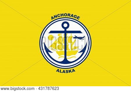 The Traditional Flag Of The Alaska City Of Anchorage