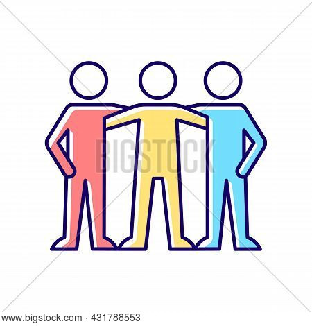 Affiliate Motivation Rgb Color Icon. Desire To Belong To Group. Team Member. Achieve Work Goal With