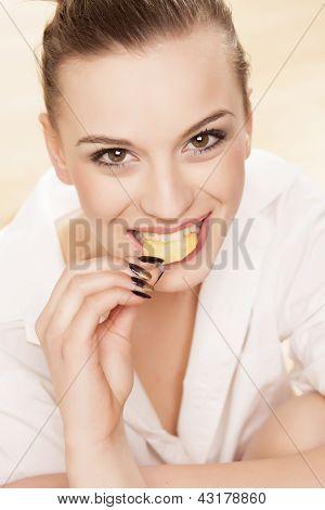 Unhealthy eating girl