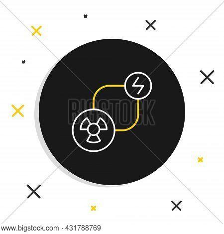 Line Radioactive Exchange Energy Icon Isolated On White Background. Radioactive Toxic Symbol. Radiat