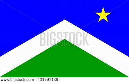 The Traditional Flag Of The Alaska City Of Sward The Capital City