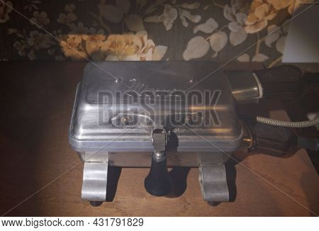 Ghent, Flemish Region-belgium. 22-08-2021. Old Electric Waffle Maker