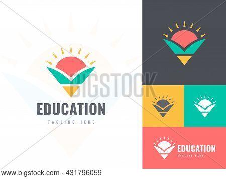 Education Logo Design Vector, School Logo, Pencil Logo, Graduation Logo