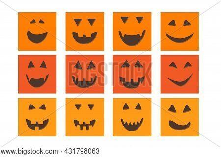 Halloween Pumpkin Face Jack O Lantern Greeting Cards.