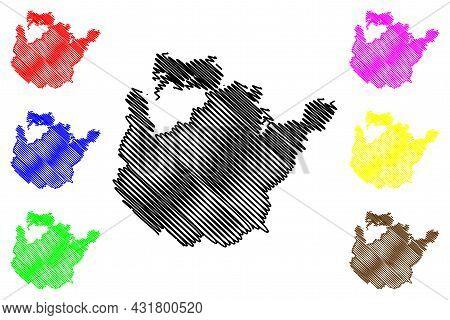 Potsdam-mittelmark District (federal Republic Of Germany, Rural District, State Of Brandenburg) Map