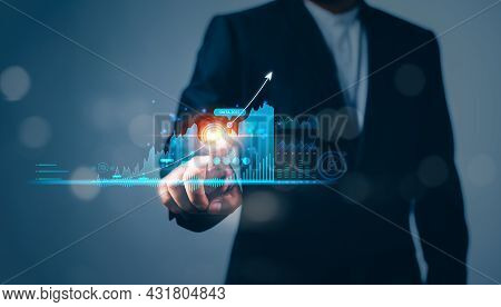 Business Finance Technology And Investment Trading Trader Investor. Stock Market Investments Funds A