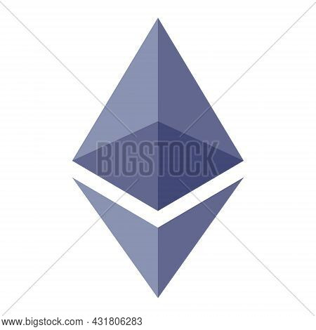 Ethereum Vector Icon. Cryptocurrency Symbol. Vector Illustration