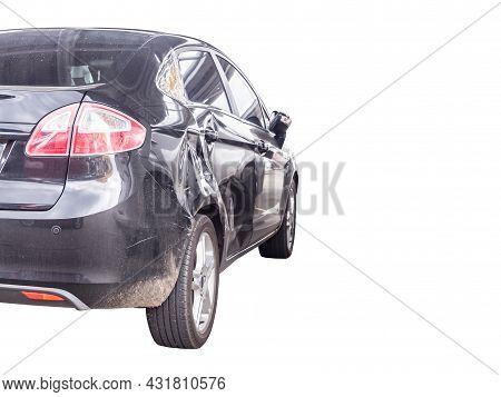 Car Crash Damage Accident Isolated On White Background