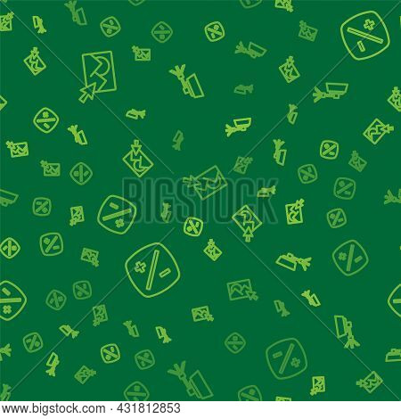 Set Line Photo Retouching, Exposure Compensation And Softbox Light On Seamless Pattern. Vector
