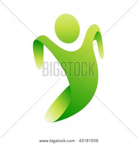 Vector green eco man concept poster