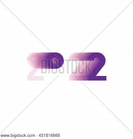 Original Inscription For New Year 2022. Flat Vector Illustration Eps10.