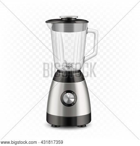 Blender Kitchen Electronic Cooking Device Vector. Blender Electric Kitchenware For Prepare And Blend