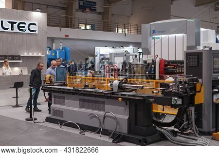 Automatic Industrial Machine, High-tech Expo In Poland.
