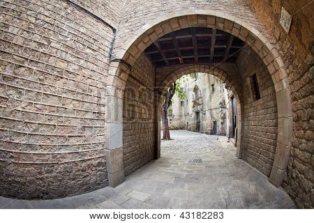 Barcelona's Gothic Quarter - Entrance To Sant Felip Neri Square