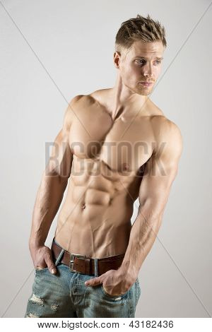 Young Athlete With Well Trained Body