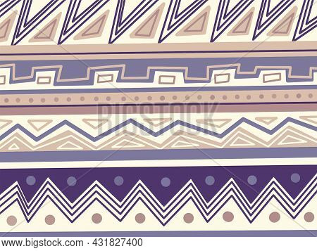 Nordic Traditional Pattern, Geometric Background. Vector Illustration