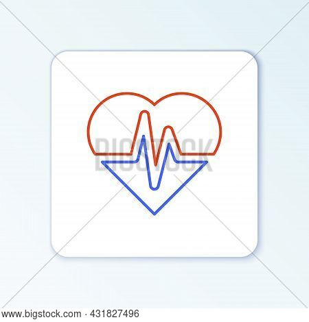 Line Health Insurance Icon Isolated On White Background. Patient Protection. Security, Safety, Prote