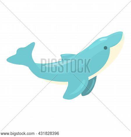 Dolphin Fish Icon Cartoon Vector. Sea Animal. Aqua Show
