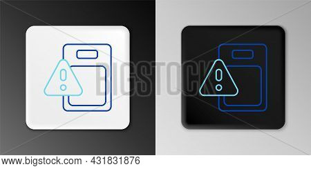 Line Global Economic Crisis Icon Isolated On Grey Background. World Finance Crisis. Colorful Outline
