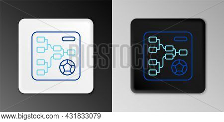 Line Results And Standing Tables Scoreboard Championship Tournament Bracket Icon Isolated On Grey Ba