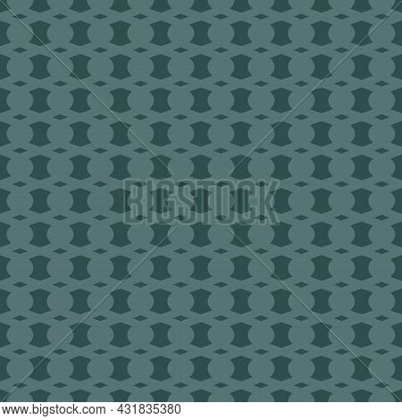 Vector Abstract Geometric Seamless Pattern With Curved Shapes, Mesh, Net, Lattice. Simple Texture In